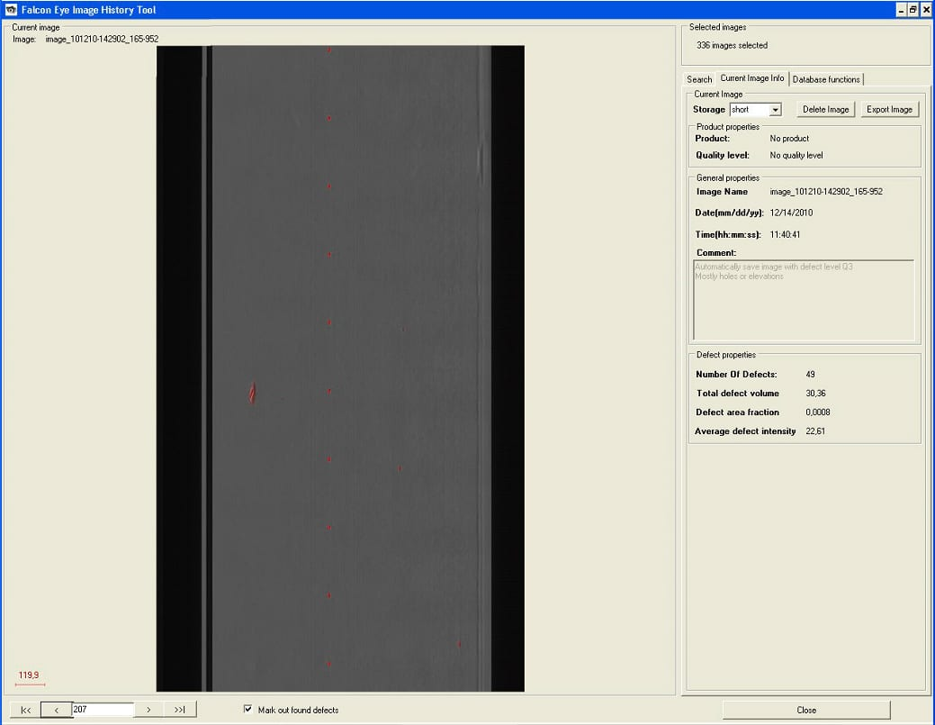 FalconEye Operator Screen PeriodicDefects