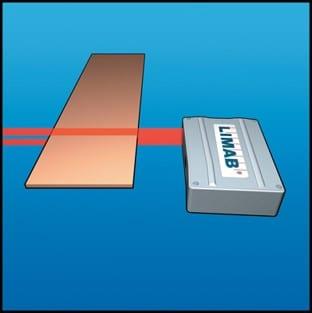 LIMAB laser sensor, width