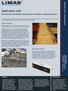 Application Note Pallet Production