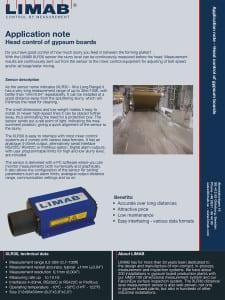 Head control of gypsum boards