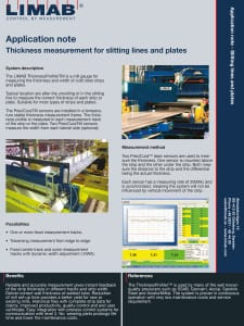 Application Note Slitting lines and plates